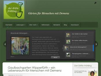 Screenshot der Website von Ulrike Kreuer: Der Dritte Frühling